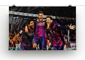 Barcelona Suarez Messi Neymar Canvas Print or Poster - Canvas Art Rocks - 2
