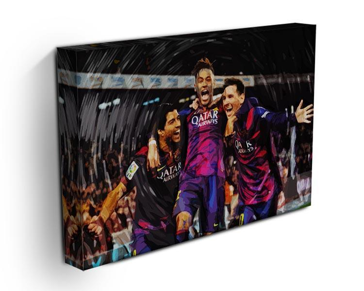 Barcelona Suarez Messi Neymar Canvas Print or Poster - Canvas Art Rocks - 3
