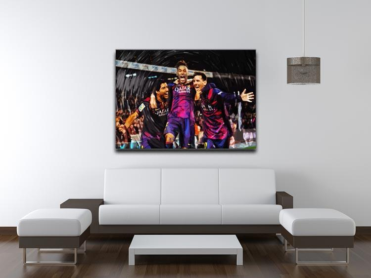 Barcelona Suarez Messi Neymar Canvas Print or Poster - Canvas Art Rocks - 4