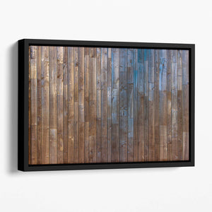 Barn Wood Wall Background Floating Framed Canvas
