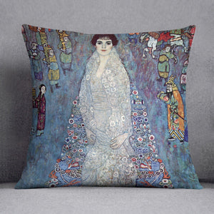 Baroness Elizabeth by Klimt Throw Pillow