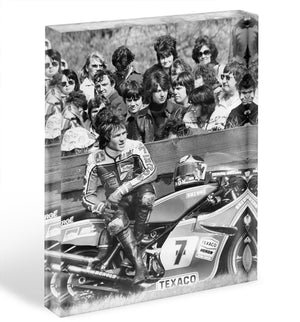 Barry Sheene motorcycle racer Acrylic Block - Canvas Art Rocks - 1