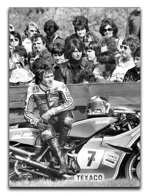 Barry Sheene motorcycle racer Canvas Print or Poster  - Canvas Art Rocks - 1