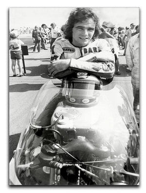 Barry Sheene motorcycle racing champion Canvas Print or Poster  - Canvas Art Rocks - 1