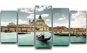 Basilica Santa Maria della Salute sunny day 5 Split Panel Canvas  - Canvas Art Rocks - 1
