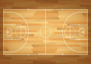 Basketball court on top Wall Mural Wallpaper - Canvas Art Rocks - 1