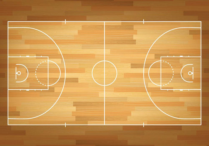 Basketball court on top Wall Mural Wallpaper