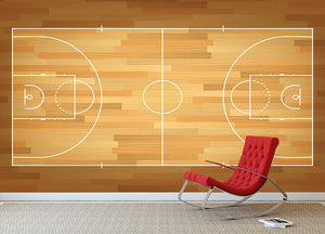 Basketball court on top Wall Mural Wallpaper - Canvas Art Rocks - 2