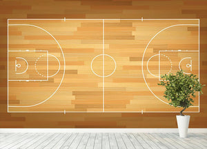Basketball court on top Wall Mural Wallpaper - Canvas Art Rocks - 4