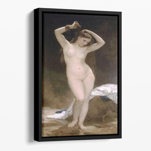Bather By Bouguereau Floating Framed Canvas