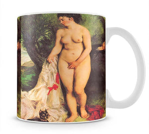 Bather with a Terrier by Renoir Mug - Canvas Art Rocks - 1