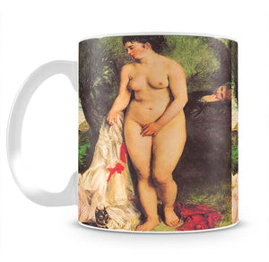 Bather with a Terrier by Renoir Mug - Canvas Art Rocks - 2