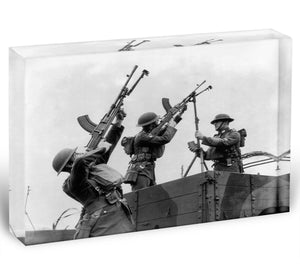 Battalion with anti-aircraft guns Acrylic Block - Canvas Art Rocks - 1