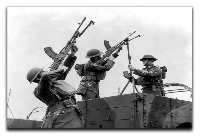 Battalion with anti-aircraft guns Canvas Print or Poster
