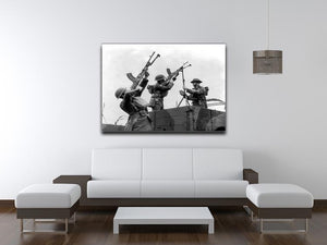Battalion with anti-aircraft guns Canvas Print or Poster - Canvas Art Rocks - 4