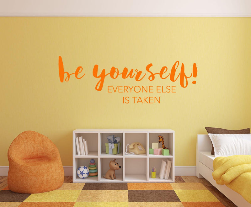 Be Yourself Wall Decal - Canvas Art Rocks - 1