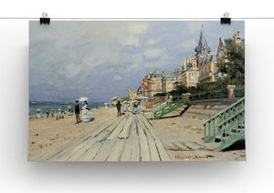 Beach at trouville by Monet Canvas Print & Poster - Canvas Art Rocks - 2