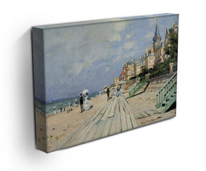 Beach at trouville by Monet Canvas Print & Poster - Canvas Art Rocks - 3