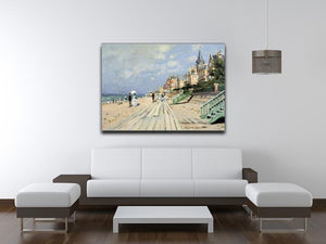 Beach at trouville by Monet Canvas Print & Poster - Canvas Art Rocks - 4
