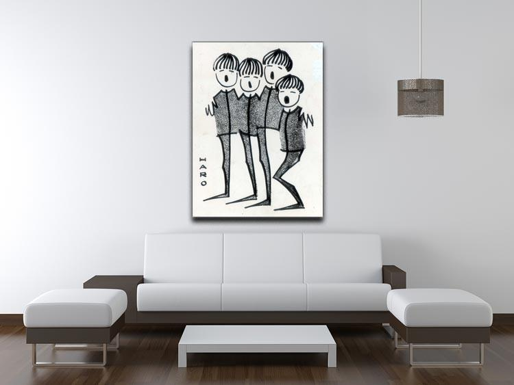 Beatles cartoon by Haro Canvas Print or Poster - Canvas Art Rocks - 4