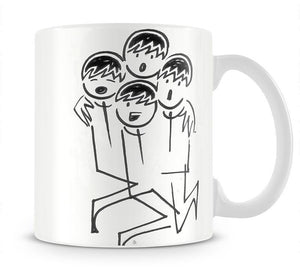 Beatles singing cartoon by Haro Mug - Canvas Art Rocks - 1