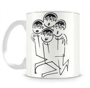 Beatles singing cartoon by Haro Mug - Canvas Art Rocks - 2