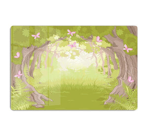 Beautiful Glade in the Magic forest HD Metal Print