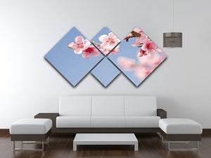 Beautiful colorful fresh spring flowers 4 Square Multi Panel Canvas  - Canvas Art Rocks - 3