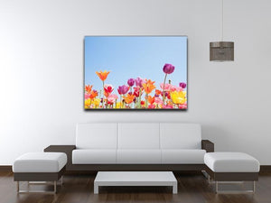 Beautiful coloured flowers Canvas Print or Poster - Canvas Art Rocks - 4
