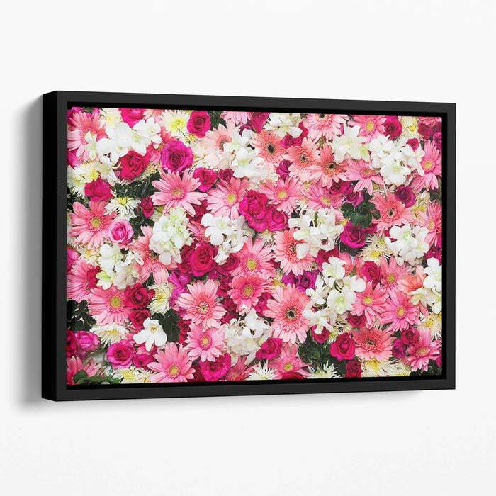 Beautiful flowers for wedding Floating Framed Canvas
