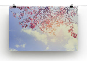 Beautiful tree pink flower in spring Canvas Print or Poster - Canvas Art Rocks - 2