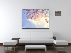 Beautiful tree pink flower in spring Canvas Print or Poster - Canvas Art Rocks - 4