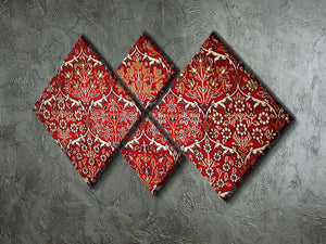 Beautiful turkish carpet 4 Square Multi Panel Canvas  - Canvas Art Rocks - 2