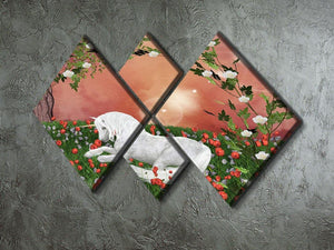 Beautiful unicorn 4 Square Multi Panel Canvas  - Canvas Art Rocks - 2