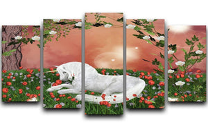 Beautiful unicorn 5 Split Panel Canvas  - Canvas Art Rocks - 1