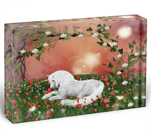 Beautiful unicorn Acrylic Block - Canvas Art Rocks - 1