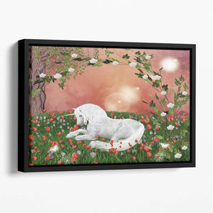 Beautiful unicorn Floating Framed Canvas