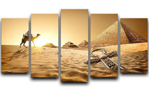 Bedouin on camel 5 Split Panel Canvas  - Canvas Art Rocks - 1