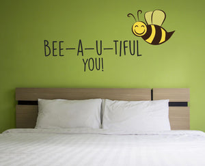 Bee-a-u-tiful Wall Decal - Canvas Art Rocks - 1