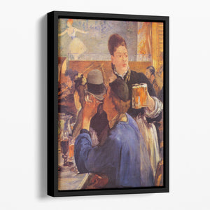 Beer Waitress by Manet Floating Framed Canvas
