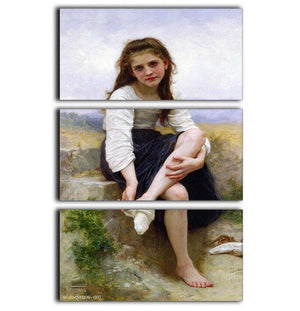 Before The Bath By Bouguereau 3 Split Panel Canvas Print - Canvas Art Rocks - 1