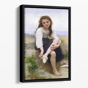 Before The Bath By Bouguereau Floating Framed Canvas