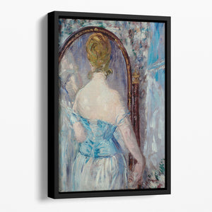 Before the Mirror by Manet Floating Framed Canvas
