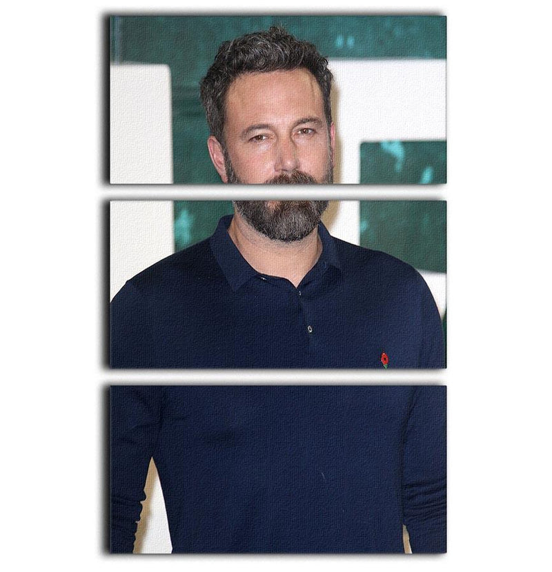 Ben Affleck 3 Split Panel Canvas Print - Canvas Art Rocks - 1