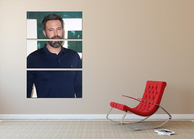 Ben Affleck 3 Split Panel Canvas Print - Canvas Art Rocks - 2
