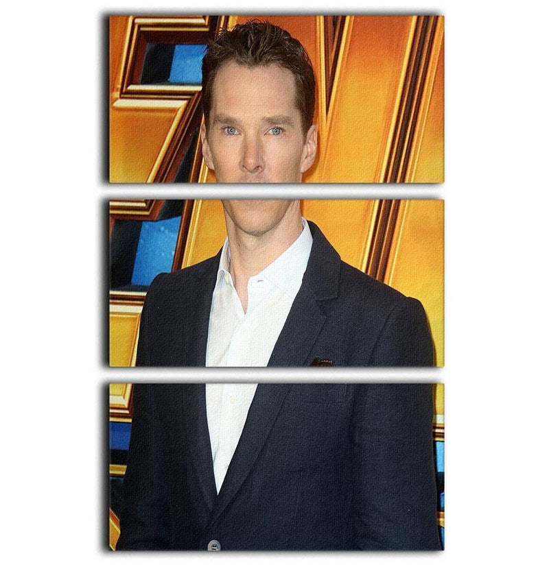 Benedict Cumberbatch 3 Split Panel Canvas Print - Canvas Art Rocks - 1