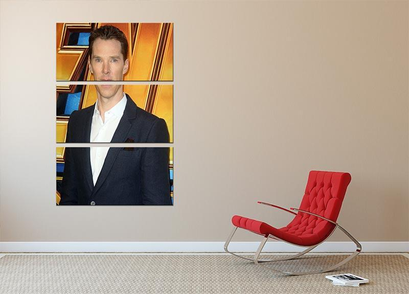 Benedict Cumberbatch 3 Split Panel Canvas Print - Canvas Art Rocks - 2