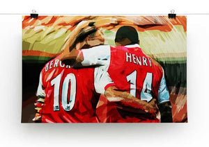 Dennis Bergkamp and Thierry Henry Print - Canvas Art Rocks - 2