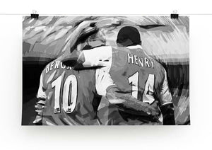Dennis Bergkamp and Thierry Henry Print - Canvas Art Rocks - 3