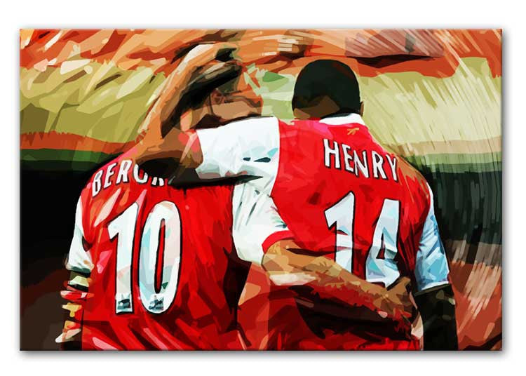 Dennis Bergkamp and Thierry Henry Print - Canvas Art Rocks - 1